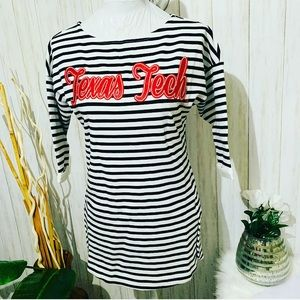 Gameday Texas Tech Striped Top Size Small